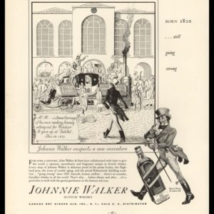 1936 Ad Johnnie Walker Scotch Whisky | Steam Carriage