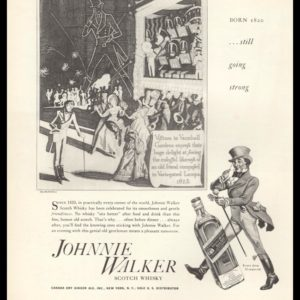 1936 Ad Johnnie Walker Scotch Whisky | Still Going Strong