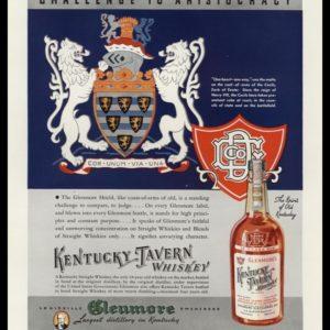 "1936 Kentucky Tavern Vintage Ad - ""Challenge to Aristocracy"""