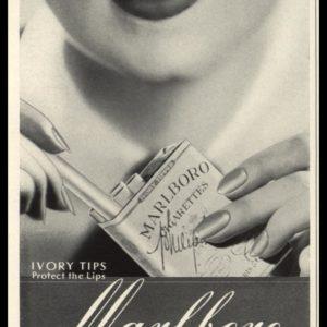 1936 Marlboro Cigarettes Vintage Ad | Ivory Tips