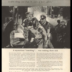 1936 Maryland Casualty Vintage Ad | Unforeseen Events