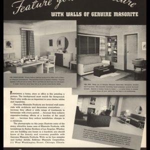 1936 Masonite Products Vintage Ad | Masonite Walls