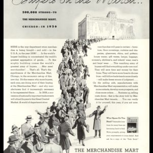 "1936 Ad The Merchandise Mart | ""World's Largest Building"""