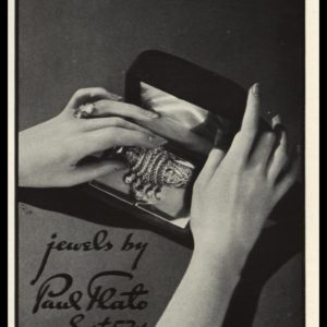 1936 Vintage Ad Paul Flato Jewelry