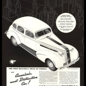 1936 Pontiac Eight Vintage Ad | Four-Door Touring Sedan