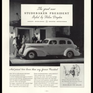 "1936 Studebaker President Vintage Ad - ""Styled by Helen Dryden"""