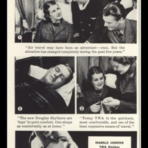 "1936 Transcontinental & Western Airlines (TWA) Vintage Ad - ""TWA's attractive hostesses"""