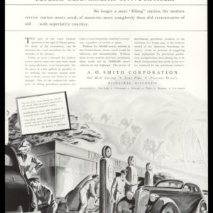 "1938 A.O. Smith Corporation Vintage Ad - ""Modern Caravansaries"""