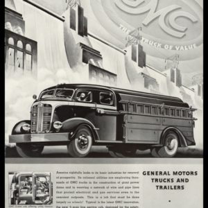1938 GMC Trucks and Trailers Vintage Ad | Utility Truck