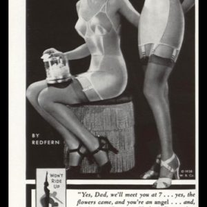 1938 Le Gant Corset Vintage Ad | Veil of Youth