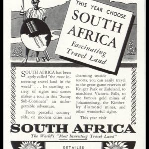 "1938 South Africa Vintage Ad | ""Fascinating Travel Land"""