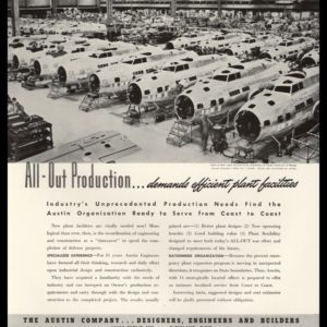 1942 The Austin Co. Vintage Ad | Boeing Aircraft Plant
