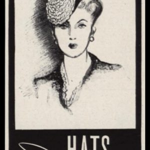 """1942 Florence Reichman Hats Vintage Print Ad - """"One West Fifty-Seventh Street"""""""