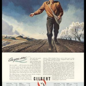 """1942 Gilbert Paper Co. Vintage Ad   """"As you sow"""""""