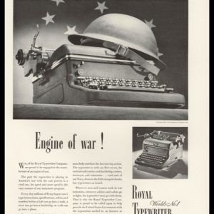"1942 Royal Typewriter Vintage Ad | ""Engine of War!"""