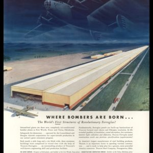 "1942 Ad Truscan Steel | ""Where Bombers Are Born"""