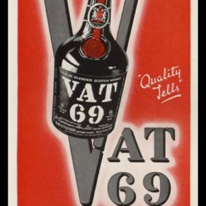 "1942 VAT Scotch Whisky Vintage Ad | ""Quality Tells"""