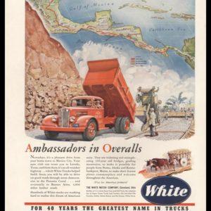 "1942 White Trucks Vintage Ad | ""Ambassadors in Overalls"""