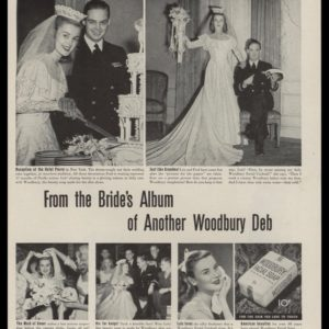 "1946 Vintage Ad Woodbury Facial Soap | ""Look Who's Married!"""