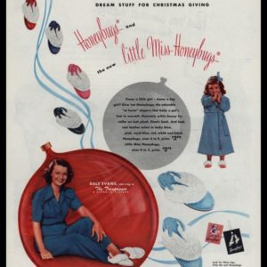 1947 Honeybugs & little Miss Honeybugs Slippers Vintage Ad - Dale Evans