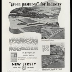 "1947 New Jersey Dept. Economic Development Vintage Ad - ""green pastures"""