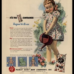 1947 Percy-Kent Bag Co. Vintage Ad | Flour Sack Dress
