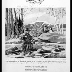 1947 Rogers Peet Company Vintage Ad | Fly Fishing Art