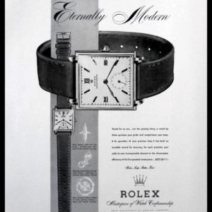 "1947 Rolex Watch Vintage Ad | ""Eternally Modern"""