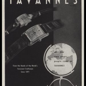"1947 Tavannes Watch Co. Vintage Ad - ""wherever time counts"""