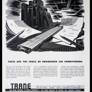1947 Trane Heating & Air Conditioning Vintage Ad