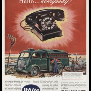 1947 White Motor Co. Vintage Ad | Utility Truck