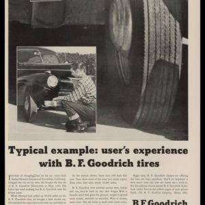 "1948 B. F. Goodrich Tires Vintage Ad | ""Typical Example"""
