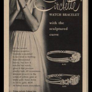 1948 Jacques Kreisler Circlette Watch Bracelet Vintage Ad