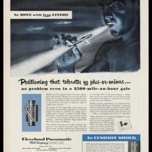 1953 Cleveland Pneumatic Tool Company Vintage Ad - Wind Tunnel