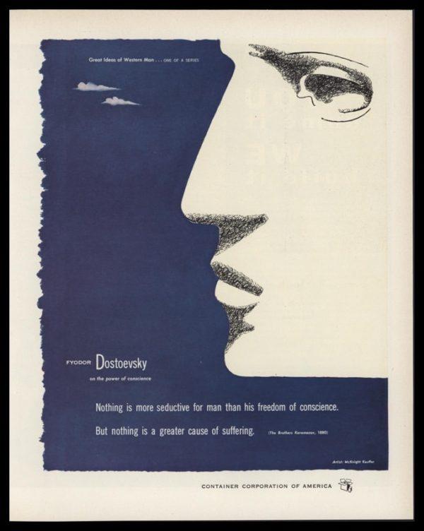 1953 Container Corporation of America Vintage Ad - McKnight Kauffer Art