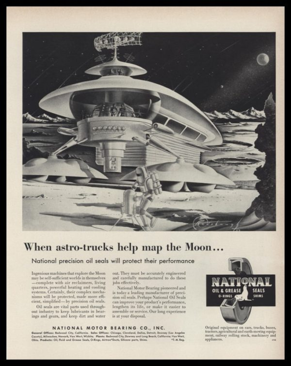 1953 National Motor Bearing Co. Vintage Ad | Astro Truck