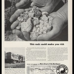 1953 Northern Pacific Railway Vintage Ad | Fluorspar