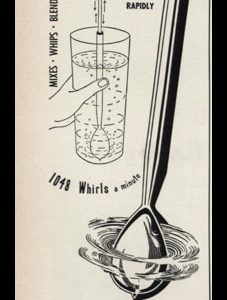 "1953 Spoonomat Mixer Vintage Ad | ""1048 whirls a minute"""