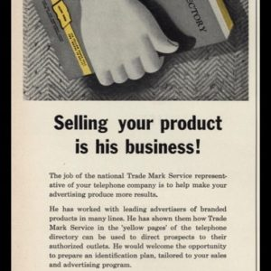 1953 Trade Mark Service (Yellow Pages) Vintage Ad