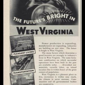 1953 West Virginia Industrial Commission Vintage Ad - Fortuneteller Art