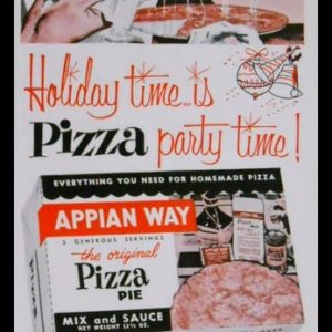 1956 Appian Way Pizza Mix Vintage Ad