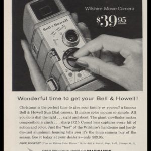 1956 Bell & Howell Wilshire Movie Camera Vintage Ad