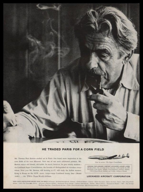 1956 Lockheed Aircraft Vintage Ad | Thomas Hart Benton