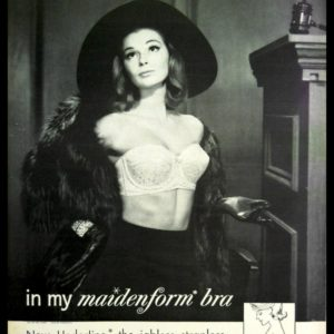 "1963 Maidenform Bra Vintage Ad - ""I dreamed I swayed the Jury..."""