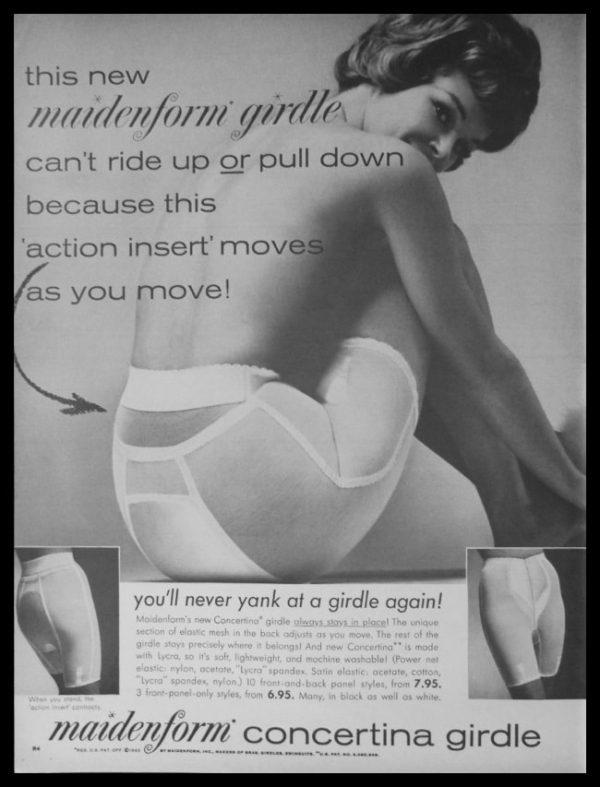 "1963 Ad Maidenform Concertina Girdle | ""Action Insert"""