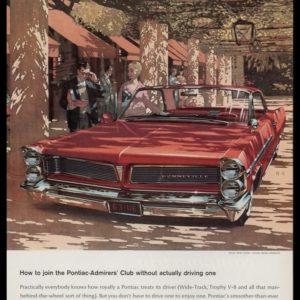 1963 Pontiac Bonneville Vintage Ad | Fitz & Van Art