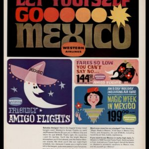 1963 Western Airlines Vintage Ad | Mexico Travel