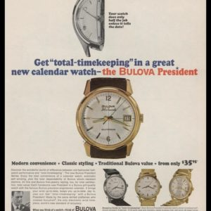 1964 Ad Bulova President Watch | Total-Timekeeping