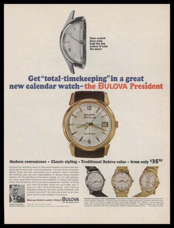 1964 Ad Bulova President Watch | Total-Timekeeping