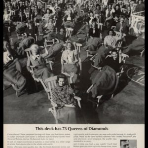 "1964 Bulova Diamond Watches Vintage Ad - ""73 Queens of Diamonds"""